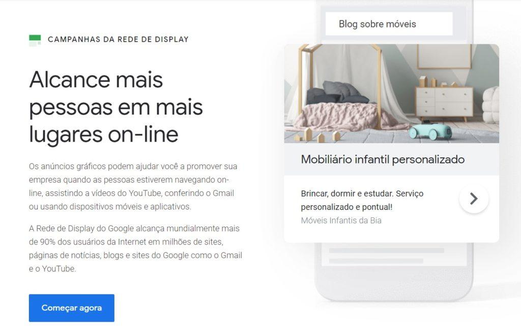 Screenshot - Rede de Display do Google